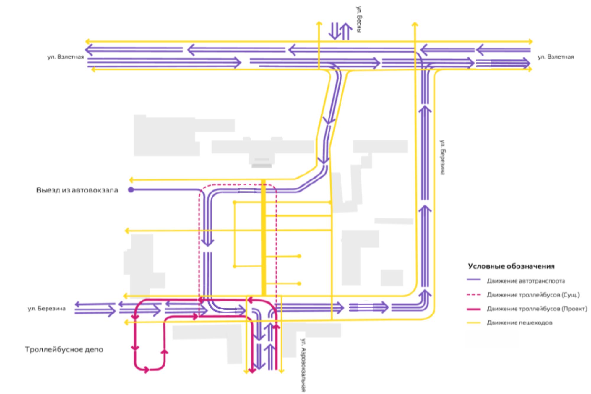 Схема движения транспорта у автовокзала Красноярска изменится на этой неделе 1