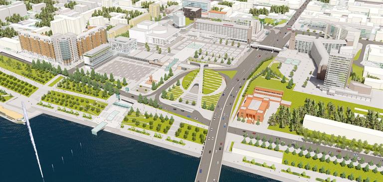 В Красноярске определились с концепцией обновления Театральной площади 1