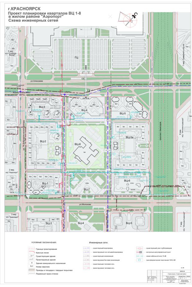Схема инженерных сетей.
